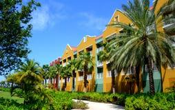 库拉索岛旅馆 免版税库存图片