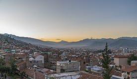 库斯科,秘鲁在清早 免版税图库摄影