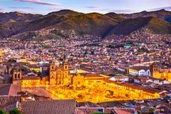 库斯科,秘鲁- Plaza de阿玛斯 库存照片