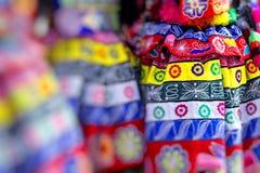 库斯科-秘鲁- 2016年6月06日:游行的秘鲁舞蹈家 免版税库存照片