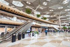 巴库盖达尔・阿利耶夫机场 免版税库存照片