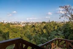 库里奇巴市-库里奇巴,巴拉那,巴西鸟瞰图  库存照片