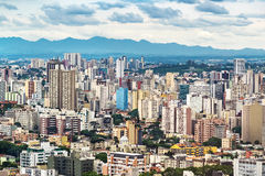 库里奇巴都市风景,巴拉那,巴西 图库摄影
