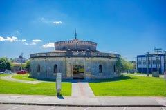 库里奇巴,巴西- 2016年5月12日:paiol剧院是音乐事件的观众席以255个人的容量 免版税图库摄影