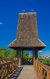 库里奇巴,巴西- 2016年5月12日:torre dos filososfos它位于在de德国公园里面和它一个好的地方看地平线 免版税库存图片