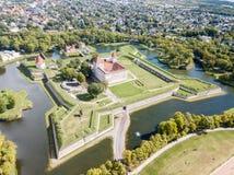 库雷萨雷主教城堡星堡垒,条顿人命令建造的本营堡垒,萨列马岛海岛的设防,西部 库存照片