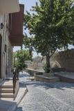 巴库,阿塞拜疆市内贫民区的街道 免版税图库摄影