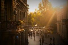 巴库,阿塞拜疆,中心街道 库存照片