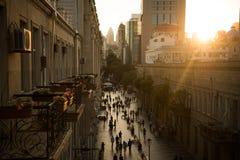 巴库,阿塞拜疆,中心街道 免版税图库摄影