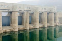 水库水坝 免版税库存图片