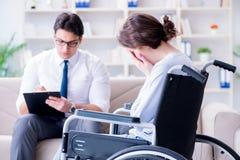 应付的耐心参观的心理治疗家tr的后果 免版税库存照片