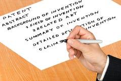 应用专利 免版税图库摄影