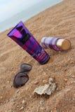 应用关心皮肤透明油漆 身体化妆水,身体薄雾维多利亚` s秘密 香水化妆用品 免版税库存图片
