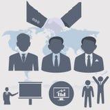 应用图标互联网人介绍项目您万维网的网站 被设置的人图标 免版税图库摄影