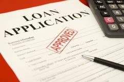应用批准的贷款 库存照片