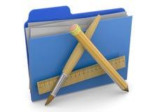 应用文件夹- 3d 免版税库存照片