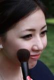 应用有吸引力的胭脂妇女年轻人的成&# 库存照片