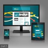应用模板设计 免版税图库摄影