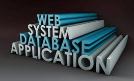 应用系统万维网 免版税库存照片