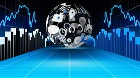 应用象和图表 股票录像