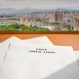 应用贷款 免版税库存图片