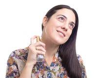 应用香水肉欲的妇女 免版税库存图片