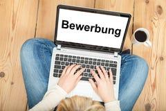 应用(用德语) 免版税库存照片