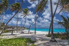 底下海湾巴巴多斯印度西部 免版税库存图片