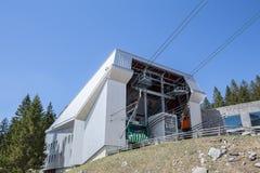 底下驻地saentis山furnicular瑞士 免版税库存照片