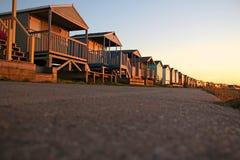 从底层的海滩小屋 免版税库存图片