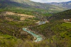 底格里斯河在伊拉克 库存照片