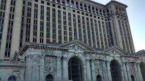 底特律中央火车站 库存照片