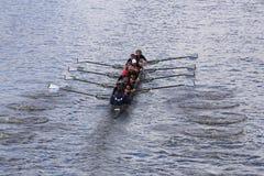 底特律划船在查尔斯赛船会妇女的青年时期Eights头赛跑  图库摄影