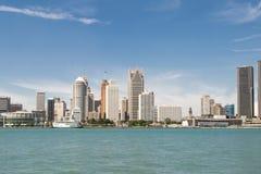 底特律密执安都市风景视图  免版税图库摄影