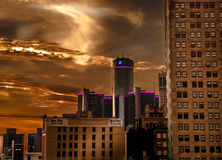 底特律市大厦 库存照片