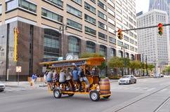 底特律把柄酒吧横渡伍德沃德 免版税库存照片