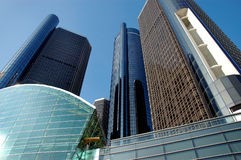 底特律摩天大楼 库存照片