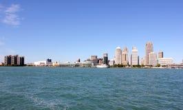 底特律河地平线 免版税库存照片