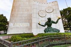 底特律雕象的精神在街市底特律 免版税库存照片