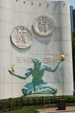 底特律雕象,街市底特律的精神 免版税库存照片