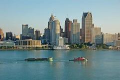 底特律风景视图 库存图片