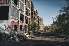 底特律,密执安,美国- 2018年10月:被放弃的帕卡德汽车厂的看法在底特律 帕卡德 免版税库存图片