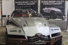 底特律- 1月17 :Suer体育utlity在N的车概念 库存照片