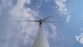 从底视图的风轮机 股票录像