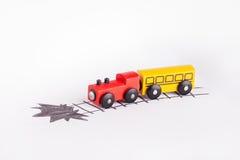底部企业折叠去红色的铁路运输培训 免版税库存图片