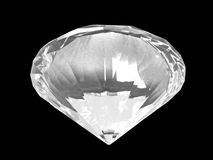 底部水晶金刚石白色 库存照片