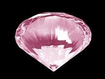 底部水晶金刚石粉红色 免版税库存照片