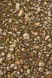底部河石头 免版税库存照片