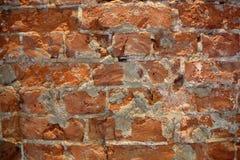 底部砖褐色纹理顶层墙壁黄色 库存图片