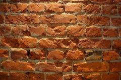 底部砖褐色纹理顶层墙壁黄色 免版税图库摄影